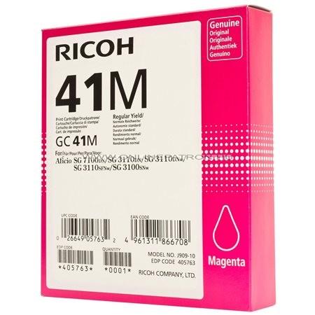 405763 Gélpatron SG 3100SNw, SG 7100DN nyomtatókhoz, RICOH Type GC41M vörös, 2,2K 3110DN 3110DNW 3110SFNw SG2100N SG3100SNw SG3110DNw SG3120BSFNw SG7100DN SGK3100DN