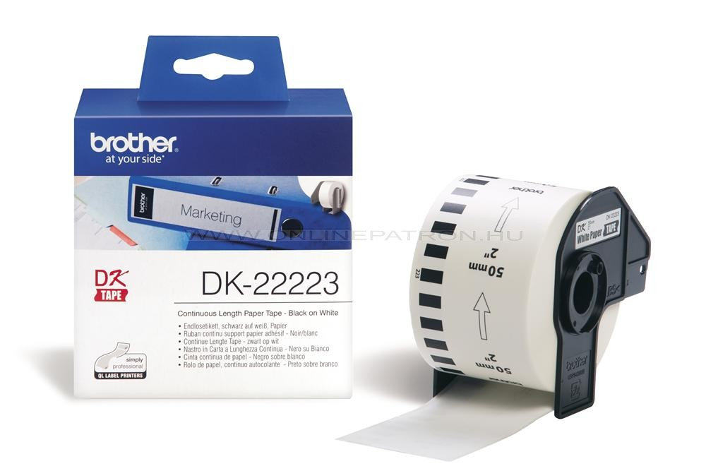 Brother DK-22223 folytonos szalagcímke 50mm x 30,48m öntapadós White