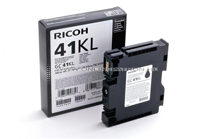 405765 Gélpatron SG 3100SNw, SG 7100DN nyomtatókhoz, RICOH Type GC41KL fekete, 600 o. SG3110DN SG3110DNW SG3110SFNw SG3100SNw SG3110DNw SG3120BSFNw SG7100DN
