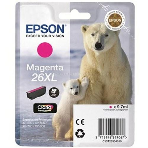 Epson 26 XL Magenta EREDETI festékpatron T2633 XP510 XP520 XP600 XP605 XP610 XP615 XP620 XP625 XP700 XP710 XP720 XP800 XP810 XP820