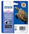 Epson T1576 Patron Light Magenta 26ml (Eredeti) Stylus Photo R3000