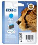 Epson T0712 Tintapatron Stylus D78, D92, D120 nyomtatókhoz, EPSON kék, 5,5ml  Eredeti kellékanyag