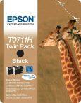 Epson T0711H Tintapatron Stylus D120 nyomtatóhoz, EPSON fekete, 2*11ml Eredeti kellékanyag