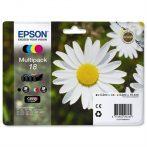 Epson T18064010 Tintapatron mutipack XP 30, 102, 202, 205 nyomtatókhoz, EPSON b+c+m+y, 15,1ml Eredeti kellékanyag