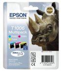 Epson T10064010 Tintapatron multipack Stylus SX600FW nyomtatóhoz, EPSON c+m+y, 33,3ml Eredeti kellékanyag