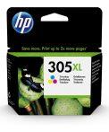 HP 3YM63AE PATRON TRI-COLOR NO.305XL (EREDETI) Termékkód: 3YM63AE Szín: TriColor (CMY) Oldalkapacitás: 200 oldal HP 305 no.305