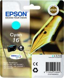 Epson T1622 eredeti festékpatron EXTRA nagy kapacitás WF2010W WF2510WF WF2520NF WF2530WF WF2540WF T1622 4010 Tintapatron Workforce WF2540WF nyomtatóhoz, EPSON fekete, 5,4ml