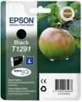 Epson T1291 Tintapatron Stylus SX420W, SX425W, SX525WD nyomtatókhoz, EPSON fekete, 11,2ml Eredeti kellékanyag
