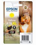 Epson T3794 Patron Yellow 9,3ml 378XL (Eredeti)  C13T37944010 Epson XP-8500  XP-8605 XP-15000