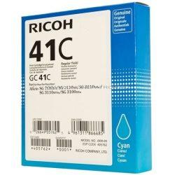 405762 Gélpatron SG 3100SNw, SG 7100DN nyomtatókhoz, RICOH Type GC41C kék, 2,2K 3110DN 3110DNW 3110SFNw SG2100N SG3100SNw SG3110DNw SG3120BSFNw SG7100DN SGK3100DN