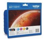 Brother LC1100HY nagykapacitású kit (Cyan, Magenta, Yellow, Black) eredeti tintapatron DCP-585CW, DCP-385C, DCP-6690CW, MFC6490 LC980 / LC1100  LC 980 / LC 1100 LC-980 / LC-1100