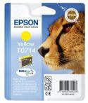 Epson T07144011 Tintapatron Stylus D78, D92, D120 nyomtatókhoz, EPSON sárga, 5,5ml Eredeti kellékanyag