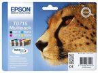 Epson T07154010 Tintapatron multipack Stylus D78, D92, D120 nyomtatókhoz, EPSON b+c+m+y, 23,9ml Eredeti kellékanyag T0715