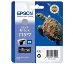 Epson T1577 Patron Light Black 26ml (Eredeti) Stylus Photo R3000
