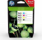 HP 3YP35AE PATRON 4PACK C/M/Y/BK NO.963XL (EREDETI) Termékkód: 3YP35AE