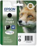 Epson T1281 Tintapatron Stylus S22, SX125, SX420W nyomtatókhoz, EPSON fekete, 5,9ml S22 Office OfficeBX305F OfficeBX305FW SX125 SX130 SX230 SX235W SX420W SX425W SX430W SX435W SX438W SX440W SX445W