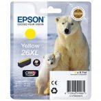 Epson 26 XL Yellow EREDETI festékpatron T2634 XP510 XP520 XP600 XP605 XP610 XP615 XP620 XP625 XP700 XP710 XP720 XP800 XP810 XP820