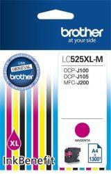 LC525XLM Tintapatron DCP-J100, J105 nyomtatóhoz, BROTHER vörös, 1300 oldal DCP-J100   DCP-J105   Ink Benefit MFC-J200 LC-525 LC-525XL M 525XL