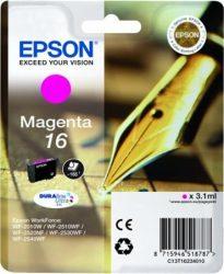 Epson T1623 eredeti festékpatron EXTRA nagy kapacitás WF2010W WF2510WF WF2520NF WF2530WF WF2540WF T1623 4010 Tintapatron Workforce WF2540WF nyomtatóhoz, EPSON fekete, 5,4ml
