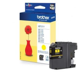 Brother LC121Y Tintapatron Yellow (Eredeti)  DCP-J132W / DCP-J152W / DCP-J172W / DCP-J552DW / DCP-J752DW / MFC-J245/MFC-J470DW / MFC-J650DW / Brother MFC-J870DW MFC-14700DW
