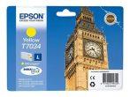 Epson T70344010 Tintapatron Workforce Pro 4000, 4500 sorozat nyomtatókhoz, EPSON sárga, 9,6 ml Eredeti kellékanyag