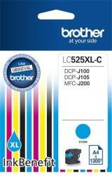 LC525XLC Tintapatron DCP-J100, J105 nyomtatókhoz, BROTHER kék, 1300 oldal DCP-J100   DCP-J105   Ink Benefit MFC-J200 LC-525 LC-525XL C 525XL