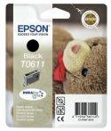 Epson T06114010 Tintapatron Stylus D68, D88, D88PE nyomtatókhoz, EPSON fekete, 8ml Eredeti kellékanyag